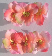 Apple Blossom Barrettes