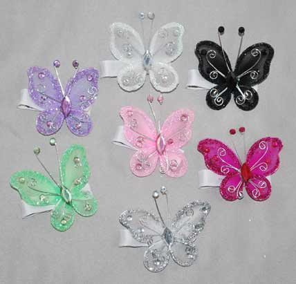Bling Butterfly Clips