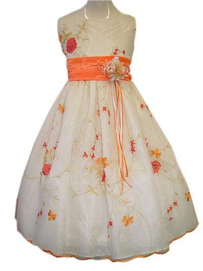 Orange Flower Dress