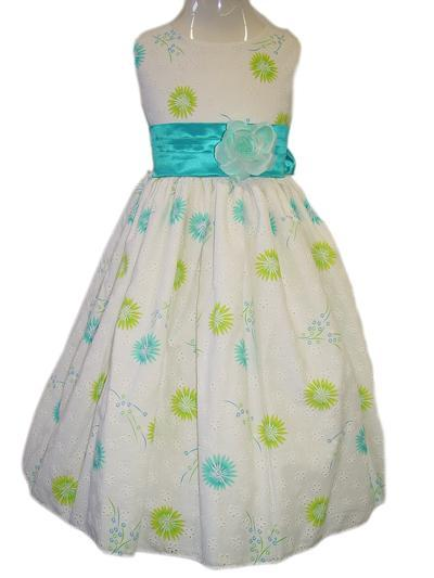 Turquoise Flower Special Occasion Dress