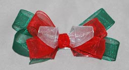 Happy Holidays Organdy Bow