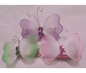 Jeweled Butterfly Clips