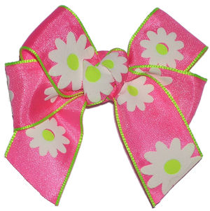 Spring Daisy Bow - Click Image to Close