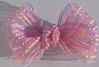 Sherbet Stripes Bow